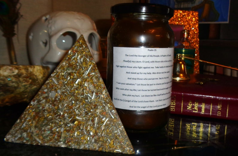 Brown Hoodoo Court Case Candle - Psalm 35 - High John Conqueror Oil and  Deers Tongue - Fixed Dressed