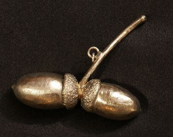 Pendant genuine Acorn Silver plated