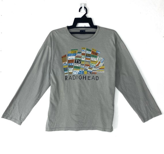 Vintage 90's Radiohead rock band tshirt tee