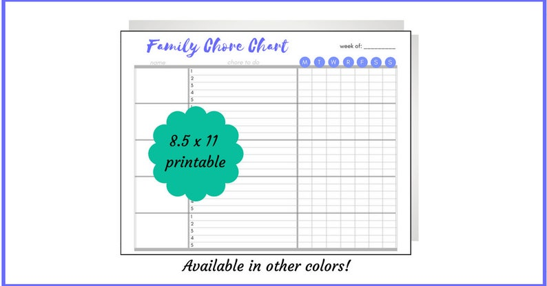 picture relating to Family Chore Chart Printable named Blue spouse and children chore chart, printable, chores via reputation, housework, chore listing, in direction of do close to the Place, everyday chores, weekly chores