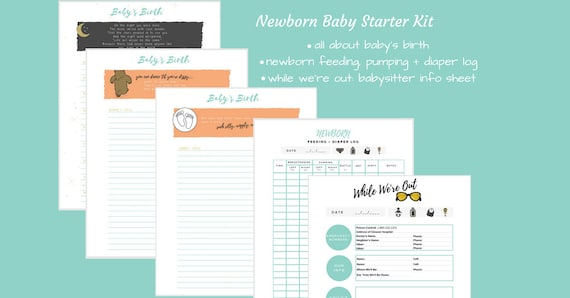 Baby Feeding Pumping Diaper Log Newborn Log Baby S Etsy