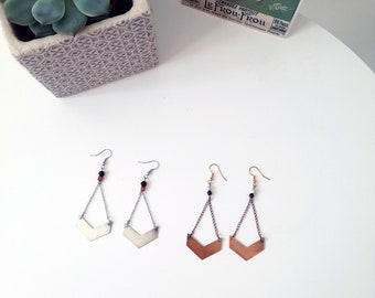 Silver earrings simple and graphic