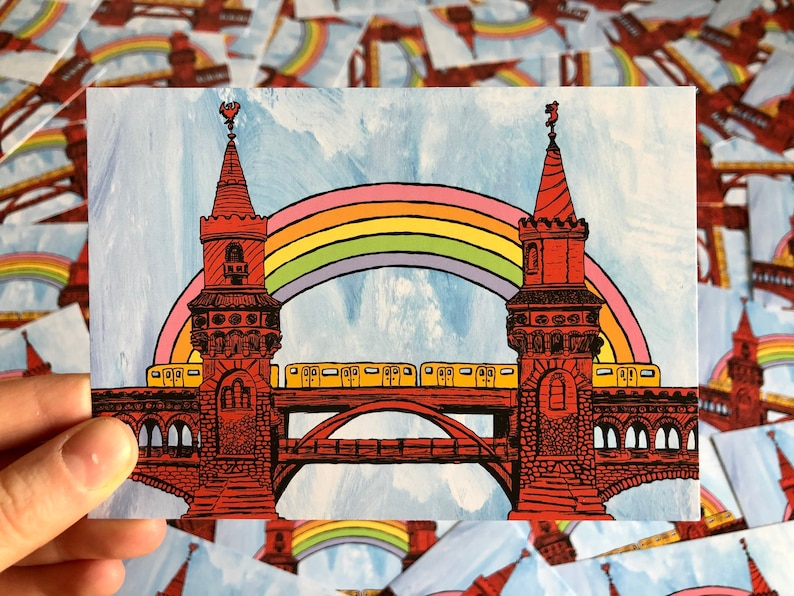 Rainbow Berlin Oberbaumbrücke image 0