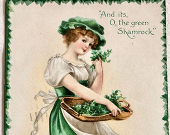 Vintage 1908 Ellen Clapsaddle St Patricks Day Postcard