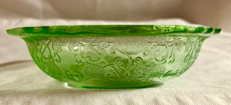 Antique Light Green Depression Glass Candy/Trinket Dish ...