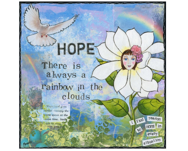 Positive thinking positive vibes anxiety relief Inspiring Print  fearless  mindset  Maya Angelou  condolence gift condolence hope