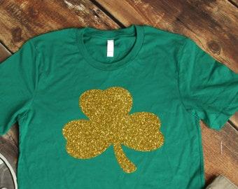 8aedf463e123 glitter shamrock shirt, st patricks day shirt for women,
