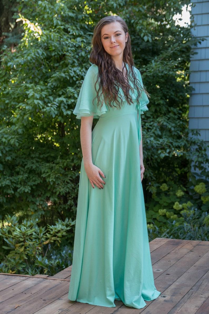 Vintage Green Prom Dress Bridesmaid Dress Wedding Guest Dress