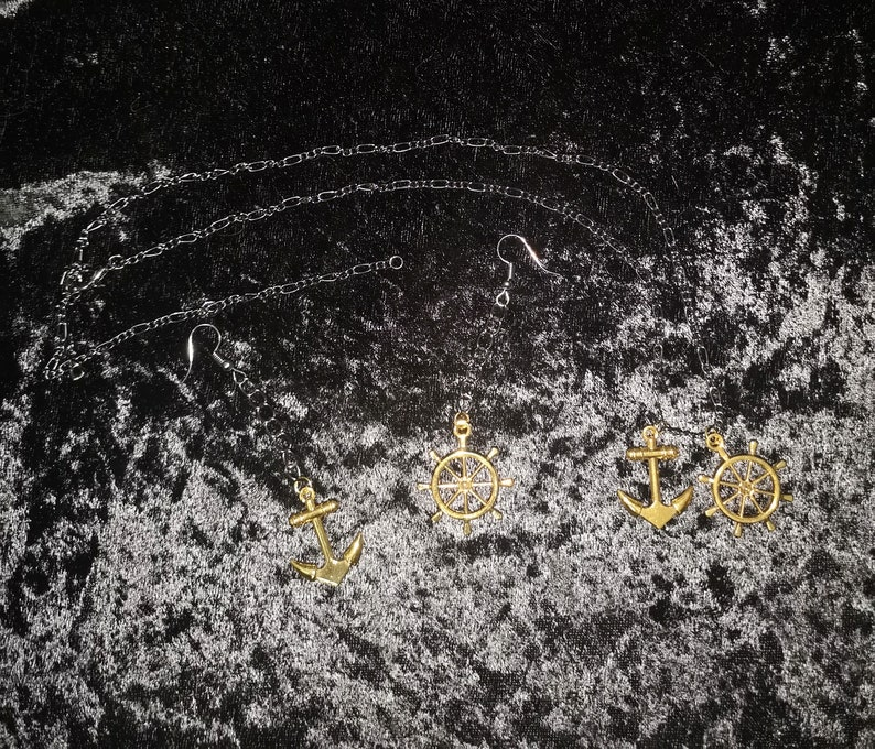 Brassy and Sassy! necklace and earring set