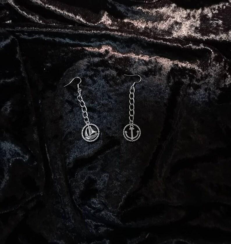 earrings, jewelry, accessories Nautical Fun design #1