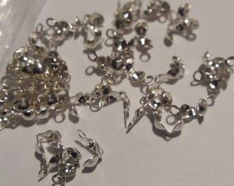 Set of 20 hidden knots 7 mm silver-tone jewelry