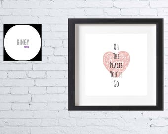 Oh The Places You'll Go Wall Art Printable