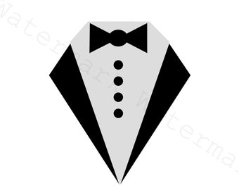 Tuxedo and Shirt SVG and Studio 3 Cut File for Cricut Silhouette Files Svgs Cutouts Groom Neck Black Bow Tie Dress Bows Baby Boss Best Man