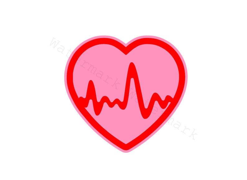 Heartbeat Svg And Studio 3 Cut File Cutouts Files Logo Stencil Etsy