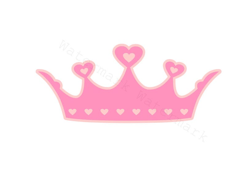 Heart Crown SVG and Studio 3 Cut File Stencil and Decal Cut Files Logo for  Silhouette Cricut SVGS Cutouts Decals Royal Logos Princess Hearts