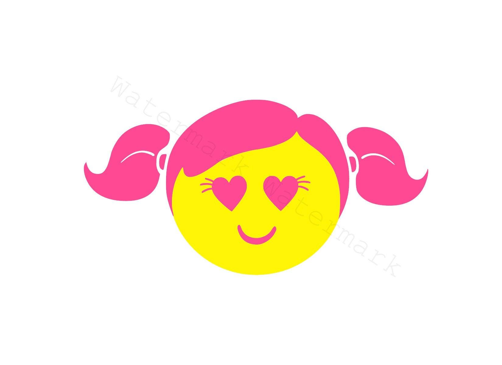 Download Pink Girl Face SVG & Studio 3 Cut File for Cricut ...