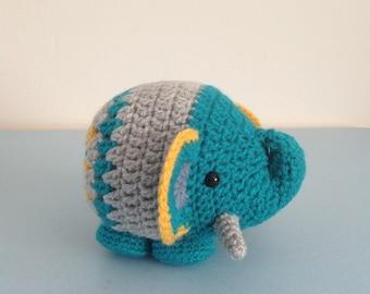 Handmade Amigurumi Crochet Elephant Soft Toy Gift