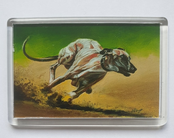 Greyhound/Whippet - Fridge magnet - 52 x 76 x 5mm