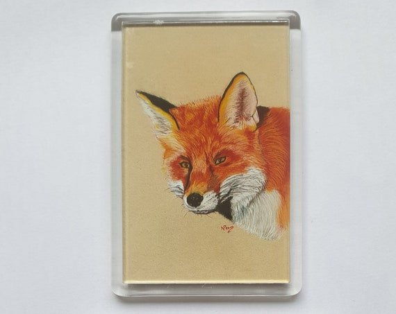 Fox - Fridge magnet - 76 x 52 x 5mm
