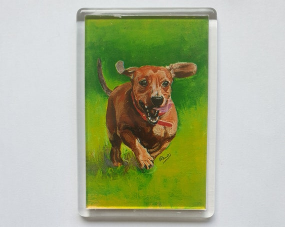 Dachshund - Fridge magnet - 76 x 52 x 5mm
