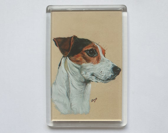 Jack Russell Terrier - Fridge magnet - 76 x 52 x 5mm
