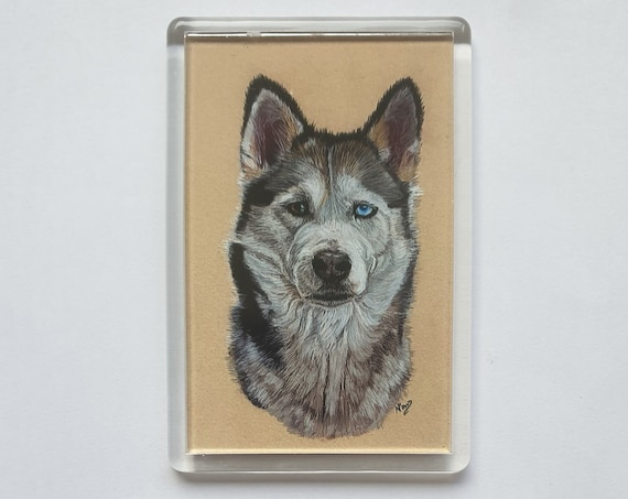 Siberian Husky - Fridge magnet - 76 x 52 x 5mm