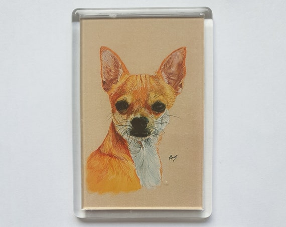 Chihuahua - Fridge magnet - 76 x 52 x 5mm