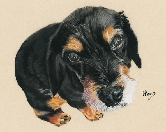 Bespoke Pastel Portrait of Your Dog