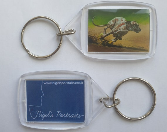 Greyhound/Whippet - Key Ring - 34 x 54 x 5mm