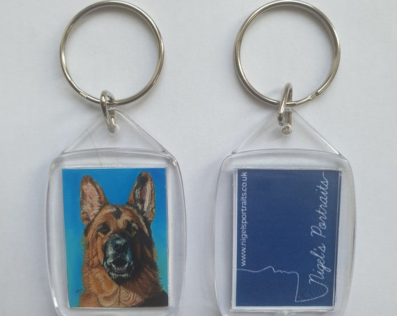 Alsation/German Shepherd - Key Ring - 54 x 34 x 5mm