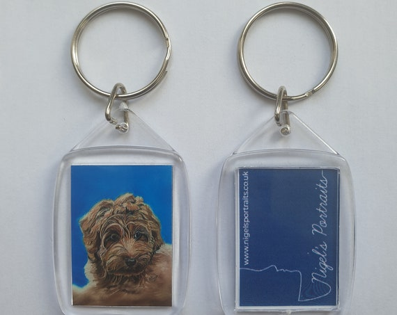 Labradoodle - Key Ring - 54 x 34 x 5mm