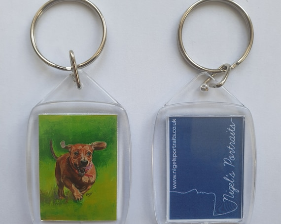 Dachshund - Key Ring - 54 x 34 x 5mm