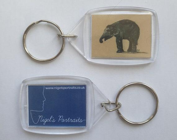 Elephant - Key Ring - 34 x 54 x 5mm