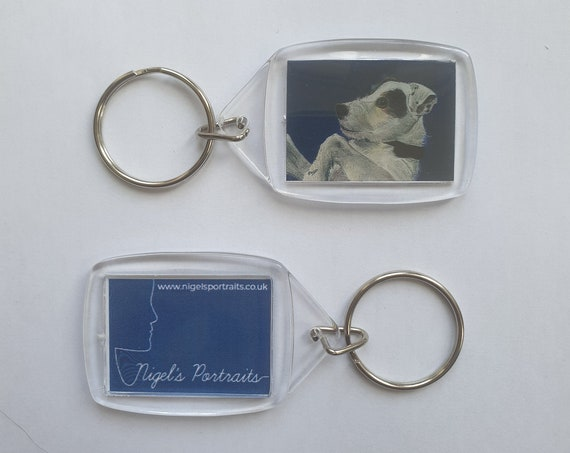 Parsons Jack Russell Terrier - Key Ring - 34 x 54 x 5mm