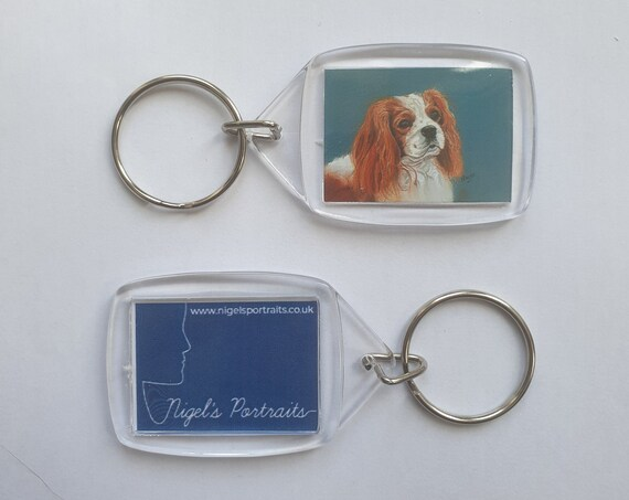 Cavalier King Charles Spaniel - Key Ring - 34 x 54 x 5mm