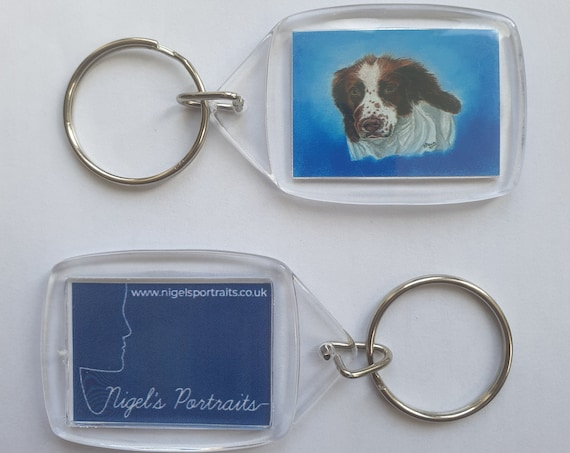 Springer Spaniel - Key Ring - 34 x 54 x 5mm