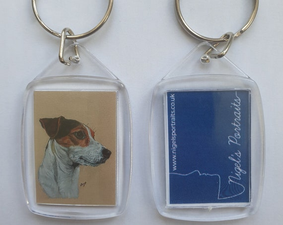 Jack Russell Terrier - Key Ring - 54 x 34 x 5mm