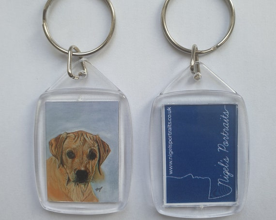 Labrador Puppy - Key Ring - 54 x 34 x 5mm