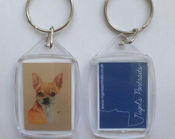 Chihuahua - Key Ring - 54 x 34 x 5mm