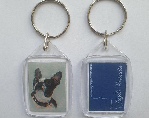 French Bulldog - Key Ring - 54 x 34 x 5mm