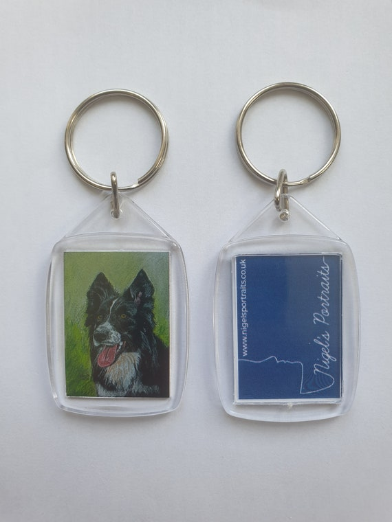 Border Collie - Key Ring - 54 x 34 x 5mm