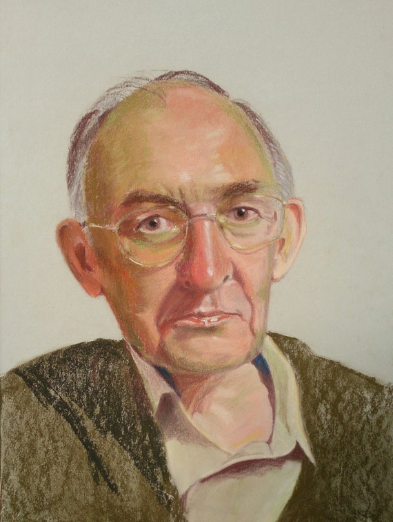 Bespoke Head and Shoulder Pastel Portrait of Your Loved One