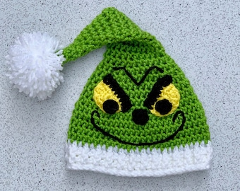 7ceed1b4db56b Crochet grinch hat