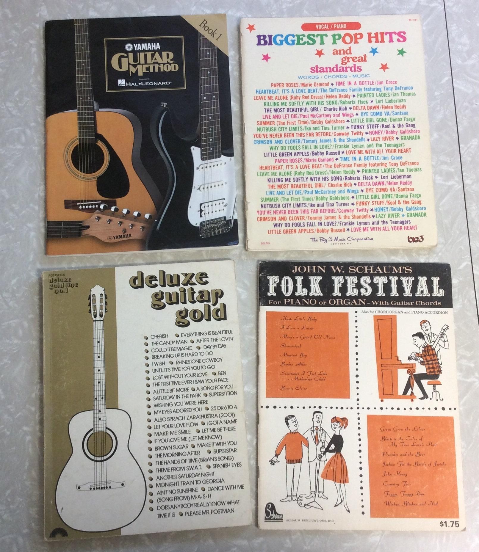 Vintage Music Books Folk Music Guitar Music Piano Music Etsy