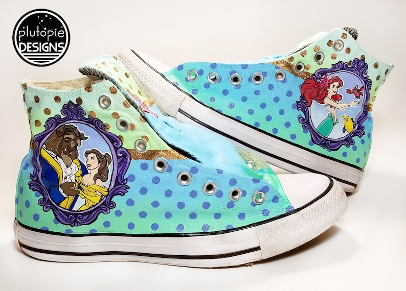 7cb0efb63883 Belle   Ariel Converse Shoes Beauty and the Beast Little