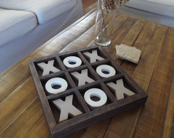 House Warming Gift Tic Tac Toe Boards Coffee Table Wood Nine Squares