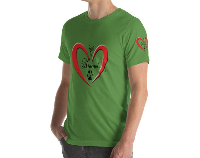 Heart of Love for Animals - Short-Sleeve Unisex T-Shirt