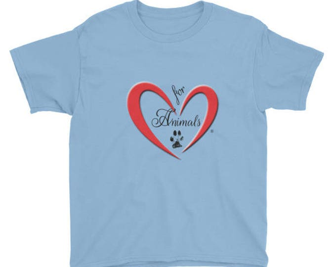 Heart of Love for Animals - Youth Short Sleeve T-Shirt