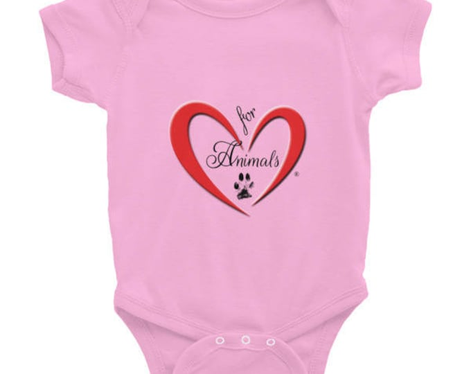 Heart of Love for Animals - Infant Bodysuit