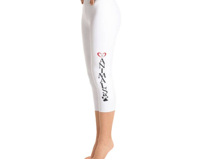 Heart of Love for Animals - Capri Leggings